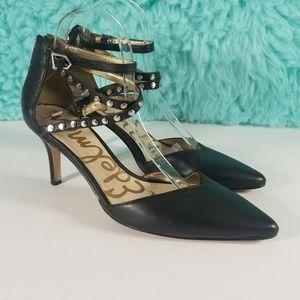 Sam Edelman Orla Stud Ankle Strap Heels Size 8